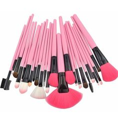 24 pcs Pro Cosmetic Makeup Brush Set with Pink Bag -- Details can be found by clicking on the image.