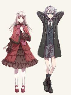 Hakase-kun, K Project, Gojou Sukuna, Kushina Anna, Crossed Legs (Standing), Capelet