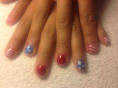 Fourth of July shellac nails
