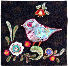 folk art birds | Arte Distraída: Folk Art - Birds