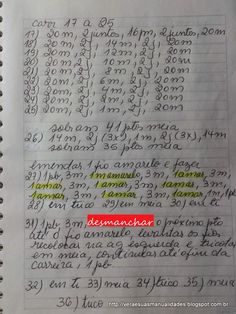 Oi amigas!   Lembram desse sapatinho?             Segue a receita que traduzi:             Explicando: 1 amar., é 1 pto amarelo.     Videos... Baby Shoes, Bullet Journal, Knitting, Afghan Crochet, Crochet Patterns, 1, Videos, Knitted Baby Clothes, Knitted Baby Booties
