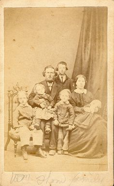 1860's.  Whm Thom Family... The two young boys on the left seem to be deceased , not sure about the baby the mother is holding.
