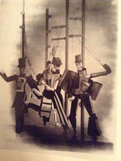Bauhaus parties and animal drama Glove puppets