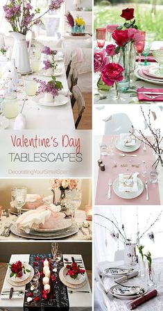 Valentine's Day Tablescapes • Tips & Ideas!