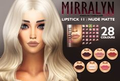 Lipstick 11 MF at MIRRALYN SIMS via Sims 4 Updates