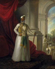 Muhammed Ali Khan Wallajah, the Nawab of the Carnatic, portrait by George Willison.