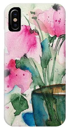 4 Pink Flowers IPhone X Case for Sale by Britta Zehm. Protect your iPhone X with an impact-resistant, slim-profile, hard-shell case. The image is printed directly onto the case and wrapped around the edges for a beautiful presentation. Simply snap the case onto your iPhone X for instant protection and direct access to all of the phone's features!