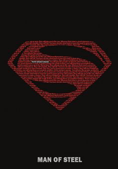 """El"" - My ""Man of Steel"" minimalist poster."