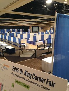 We're all ready for the Dr. King Career Fair in Albany today. 12:30-4 at the Convention Center.