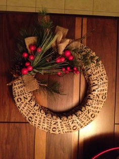 Burlap Christmas wreath DIY