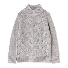 Chunk alternating cable knit