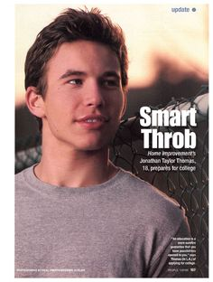 jonathan taylor thomas..  Idc who else pops up in Hollywood, MCM forever and always