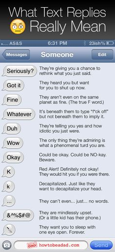 What Text Replies Really Mean! #truth