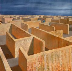 Jeffrey Smart (1921-2013) – Labyrinth (2013)