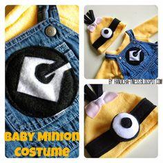 Handicraftiness: Easy Baby Minion Costume. DIY #minioncostume