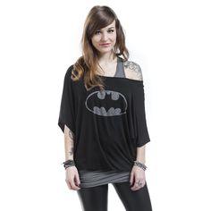 "Batman T-Shirt, Women ""Logo"" black-grey • EMP"