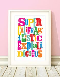 Girls nursery art Mary Poppins inspired by BubbleGumYears on Etsy