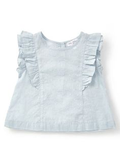 Baby Girls Holly Willoughby Pastel Blue Frill Sleeved Blouse