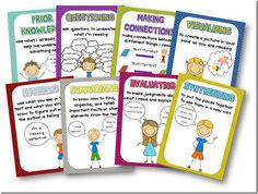 Free Comprehension Strategy Posters