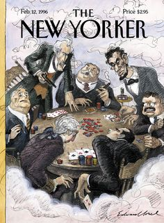 """The New Yorker - Monday, February 12, 1996 - Issue # 3694 - Vol. 71 - N° 48 - Cover """"Presidential Privilege"""" by Edward Sorel"""