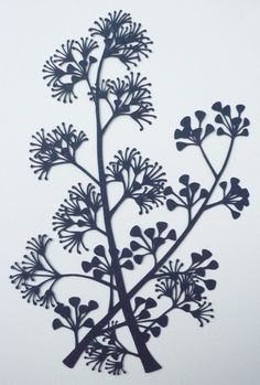 Karen Tharp-each piece is hand-cut with an x-acto knife out of a single sheet of indigo paper