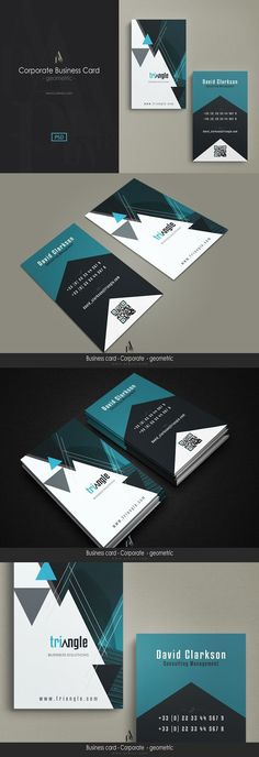 Corporate Business Card - geometric. Business Card Templates c93b9a6f00f13