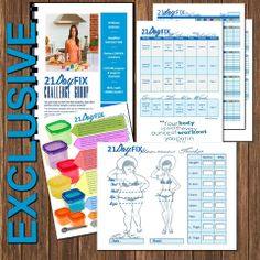 EXCLUSIVE edit-able 21 Day Fix STARTER kit!! This includes: Group Workbook, Workout calendar, Meal tracker, Measurement tracker, & Container CHEAT sheet!! WANT to get your hands on one? Message me on FB for the details!