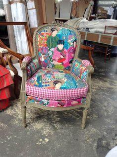 3 fauteuils louis xvi apr s restauration et retapiss s atelier mobilier deco pinterest - Cours de restauration de fauteuil ...