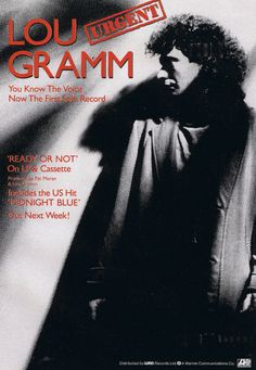 Lou Gramm Promotional Ad https://www.facebook.com/FromTheWaybackMachine