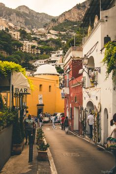 Streets of Positano, Italy