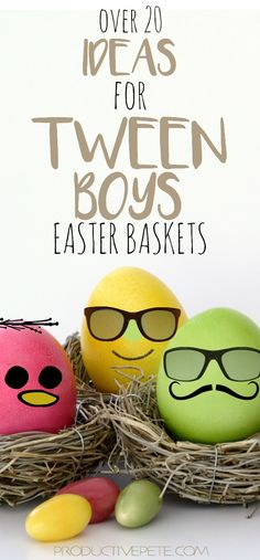 Check out these fun Easter Basket Ideas for Tween Boys. That age where finding t… Check out these fun Easter Basket Ideas for Tween Boys. That age where finding the right gift is getting harder! A little bit of everything in this list to help you find the Easter Activities, Easter Crafts For Kids, Easter Gift, Teen Activities, Teen Crafts, Boys Easter Basket, Easter Baskets, Easter Bunny, Easter Eggs