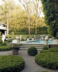 Beautiful step-up pool area. {Garden by Art Luna}