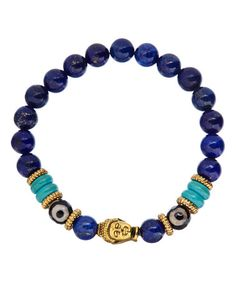 Lapis Lazuli Truthfulness & Inner Power Stretch Bracelet #zulily #zulilyfinds