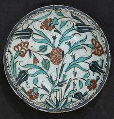 Dish | Islamic | Attributed to Turkey, Iznik, made of stonepaste; underglaze painted, 17th century The Met