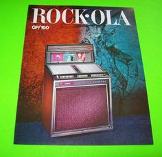 432 GP/160 By ROCK OLA 1966 NOS ORIGINAL JUKEBOX PHONOGRAPH FLYER BROCHURE #jukeboxflyer #rockola