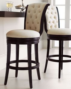 """""""Monohan"""" Tufted Barstool.  Lovely, but my kids would get this dirty in no time flat."""
