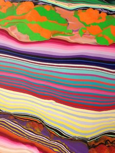 Holton Rower pour painting up close
