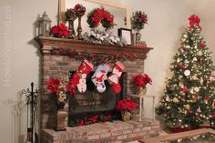 images of fireplace mantel christmas decorations | This year I was lucky enough to have an eager helper to hang the ...