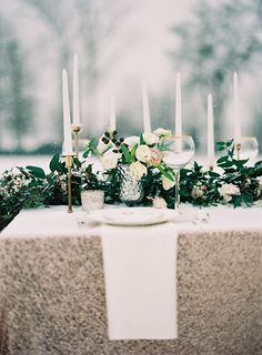 Photography: Laura Leslie Photography - www.lauralesliephotography.com Photography: Gracie Blue Photography - www.grblue.com  Read More: http://www.stylemepretty.com/2014/04/24/enchanted-winter-wedding-inspiration/