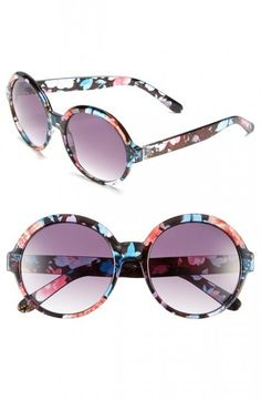 24 Pairs of Sunglasses for the Soon-to-Be-Sunny Weather - Bridgette floral-print round sunglasses - http://www.flare.com/fashion/24-stylish-sunglasses-for-spring-summer-2015/#gallery_page3
