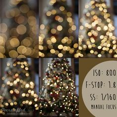 How to achieve Christmas Light bokeh with manual focus by lalakme, via Flickr