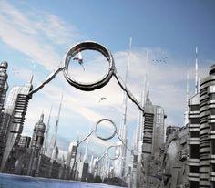 As ilustrações 3D de ficção científica e cenários futuristas de Jean-François Liesenborghs