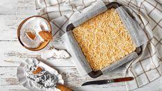 Nepečené kokosové rezy (len z 3 surovín) | Recepty.sk Bread, Food, Meal, Brot, Eten, Breads, Meals, Bakeries