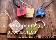 Wooden Pendant Necklaces (and Keychain) Tutorial