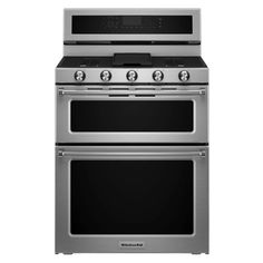 30 in. 6.7 cu. ft. Double Oven Dual Fuel Range with Self-Cleaning Convection Oven in Stainless Steel (Silver)