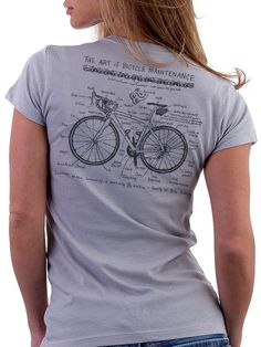 Women's Bicycle Tee. Bicycles Love Girls. http://bicycleslovegirls.tumblr.com/