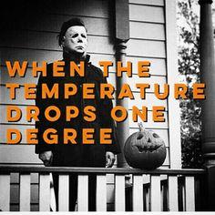 When temperature drops Halloween Season, Halloween House, Spooky Halloween, Vintage Halloween, Happy Halloween, Halloween Decorations, Halloween Countdown, Halloween Rules, Halloween Havoc