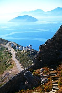 Leros, Greece, and I think Kalymnos island on the horizon