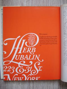 Graphic Design   Herb Lubalin and Upper and Lowercase Magazine were always favorites of mine!