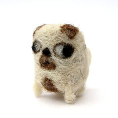 Billy++Pug+Sculpture++Handmade+Miniature+Needle+by+Poopycakes,+£15.00